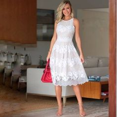 Special Occasion White Dresses for Women White Dresses For Women, Little White Dresses, Blue Dresses, Casual Dresses, Fashion Dresses, Black Dress Outfits, Maxi Outfits, Classy Outfits, Vestido Lady Like