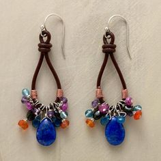 LOOPED LAPIS EARRINGS