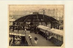 Archive photo of the Concert Hall construction, circa 1915. West Pier, Brighton.