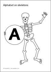 Alphabet on skeletons - capitals (SB6669) - SparkleBox