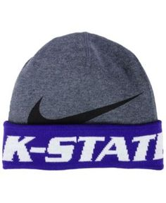 f4270a6a80e Nike Kansas State Wildcats Training Beanie Knit Hat Men - Sports Fan Shop  By Lids - Macy s
