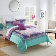Purple Bedding - add shades of lilac and lavender to any bedroom with purple comforter sets, duvet covers, quilts and bedspreads in chevron, paisley and zebra print patterns King Size Bed Linen, Comforter Sets, Comforters, Home Decor, King Comforter Sets, Reversible Bedding, Purple Bedding, Bedding Sets, King Size Comforter Sets