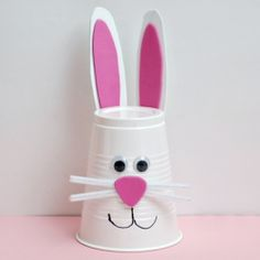 Bunny Cup Craft easter bunny easter crafts for kids easter diy crafts easter ideas easter projects for kids easter diy crafts for kids cup crafts Easy Easter Crafts, Easter Projects, Easter Art, Daycare Crafts, Bunny Crafts, Crafts For Kids To Make, Easter Crafts For Kids, Preschool Crafts, Easter Bunny