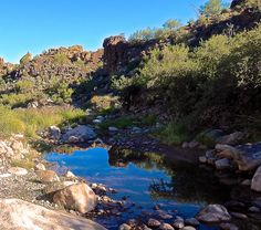 Superstition Mountains: First Water Creek crossing the Dutchman's Trail