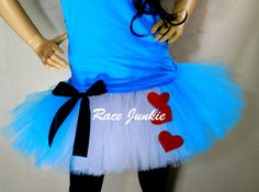 Alice in Wonderland Running Tutu 9 inch tutu by RaceJunkie-----if I ever get the chance to participate in a RunDisney event this will be my outfit of choice!!!