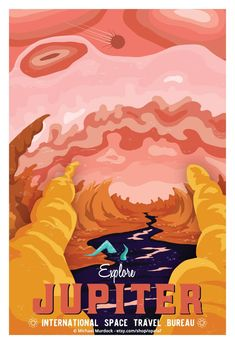 By michael murdock solar system travel posters in 2019 плака Space Tourism, Space Travel, Vintage Space, Space And Astronomy, Astronomy Science, Science Fiction Art, Retro Art, Vintage Travel Posters, Star Wars