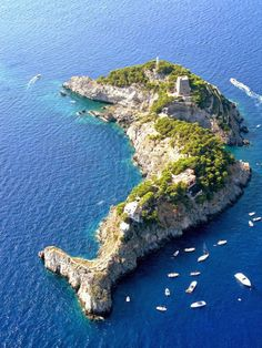 little islands off the Amalfi Coast of Italy