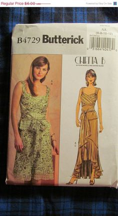 SALE Uncut Butterick Sewing Pattern 4729 Sizes by EarthToMarrs, $4.80