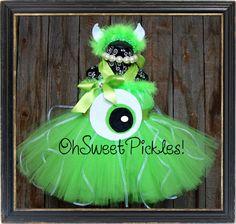 mike-wazowski-monsters-inc. Halloween Tutu Dress, Clown Halloween Costumes, Tutu Costumes, Halloween Crafts, Halloween Party, Costume Ideas, Halloween Ideas, Primer Halloween, First Halloween