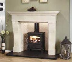 64 Ideas Wood Burning Fireplace Surround Log Burner For 2019 Wooden Fire Surrounds, Marble Fire Surround, Fireplace Surrounds, Wood Burner Fireplace, Wooden Fireplace, Fireplace Design, Fireplace Ideas, Limestone Fireplace, Fireplace Mantels