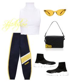 """Free run"" by lahraog on Polyvore featuring Illesteva, Balenciaga and Off-White"
