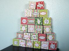Printable Advent Calendar Boxes  Christmas by CreativeJuiceCafe, $4.50