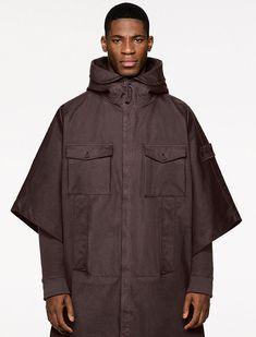 Shades Of Maroon, Split Design, Shearling Jacket, Stone Island, Hooded Sweater, Style Icons, Fashion News, Raincoat, Fall Winter