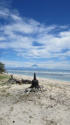 The Great Mountain of Agung, Bali scene from Gili Trawangan, Lombok.