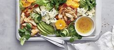 Klementiini-broilerisalaatti Fresh Rolls, Food Inspiration, Cobb Salad, Salad Recipes, Ethnic Recipes