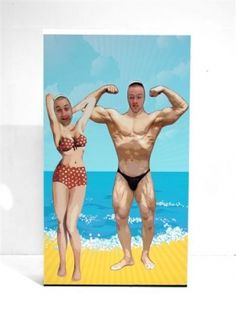 Seaside Peep Thru Board Beach  Prop Description:    Seaside Peep Thru Board to hire.    Depicting a comical beach scene, this freestanding prop will provide a great photo opportunity at your seaside themed event party.  Prop Dimensions:  Width: 	1220mm  Height: 	2200mm  Depth: 	430mm