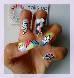 #nailart ##neonnails #nailsup #nails
