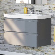 800mm Melbourne Clotted Cream Floor Standing Double Door Vanity Unit