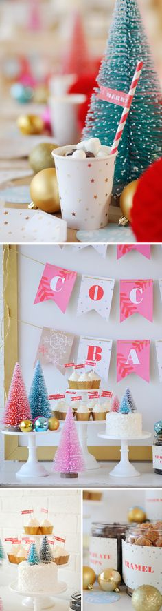 Throw a Hot Cocoa-Themed Party this Holiday Season with Minted's unique selection of holiday party decorations.