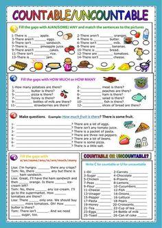 Countable and uncontable nouns ficha interactiva y descargable. Comprueba tus respuestas online o enviáselas a tu profesor/a.