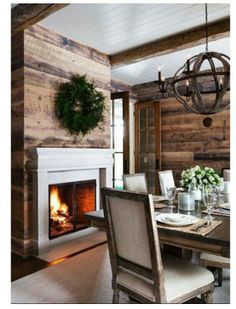 Planked Wall and beams