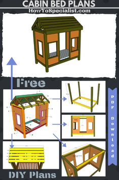 This step by step diy project is about twin size cabin bed frame plans. You can build this cabin bed with basic tools and materials and save a ton of money. Woodworking Projects Diy, Teds Woodworking, Diy Projects, Bed Frame Plans, Building A Cabin, Wood Plans, Kid Beds, Furniture Plans, Basic Tools