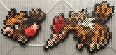 Spearow and Fearow - Pokemon perler beads by TehMorrison Hama Beads Pokemon, Pearler Beads, Fuse Beads, Melty Bead Patterns, Perler Patterns, Beading Patterns, Pixel Art, Pixel Pattern, Melting Beads