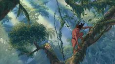 Tarzan tree-surfing . Seriously, who came up with this surprisingly brilliant idea?