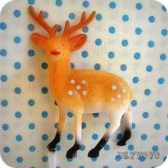 12 Deer Pick Toppers by HeyYoYo on Etsy