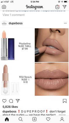 von manuela - Make-up - Nagel Design Beauty Make-up, Beauty Dupes, Makeup Inspo, Makeup Inspiration, Lipstick Dupes, Lipsticks, Make Up Dupes, Pinterest Makeup, Makeup Obsession