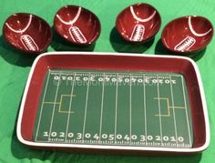Football Tray and Bowls from LTD Commodities