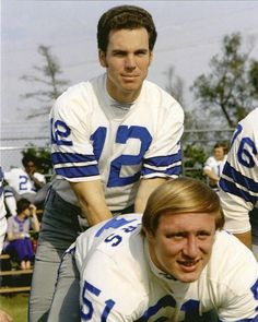 Roger Staubach Dave Manders Dallas Cowboys unsigned vintage 8x10 photo NFL