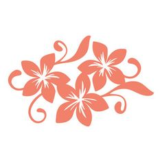 Silhouette Design Store: tropical flowers