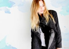 Raining Watercolor Publicly Private Elizabeth and James #fallfashion #outfit #coat #watercolor