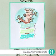 Reverse Confetti | Day 3 of the Countdown to Confetti | April Release | Bear Hugs stamps and Confetti Cuts | #koala