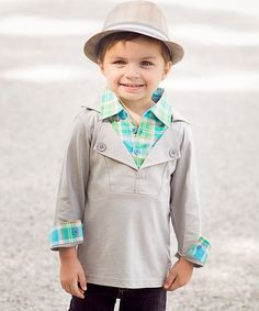 Loving this Gray Soren Layered Pullover Sweater - Infant, Toddler & Boys on #zulily! #zulilyfinds