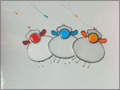 Stained glass Sheep Suncatcher & Christmas Decoration