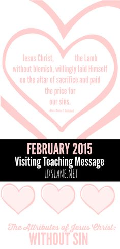 February 2015 Visiting Teaching Printables