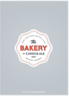 """""""The Bakery at Cakes & Ale"""" logo design"""