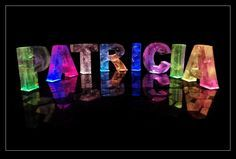 An image of the name Patricia in coloured lights, with information and cards and gifts for Patricia Name Boards, Piece Of Me, My Name Is, Thats Not My, Rainbow, Lights, Fun, August Born, Image
