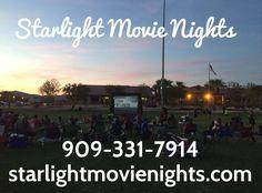We rent outdoor inflatable movie theaters. 909-331-7914 Www.starlightmovienights.com Www.facebook.com/Starlightmovienights