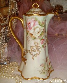 Haviland Limoges hand painted, chocolate pot