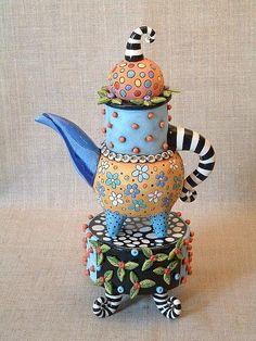Наталья Сотс — удивительная художница-керамист из Америки. Подобно доброй волшебнице она вселяют душу в простые предметы.