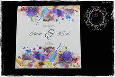 Oryginalne zaproszenie ślubne - wrzosowe_inspiracje - Zaproszenia ślubne