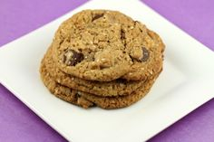 Quinoa peanut butter chocolate chip cookies. By @Mercedes Porter