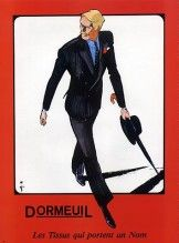 DORMEUILフレール(ファブリック)1986ルネGruau、男性のファッション