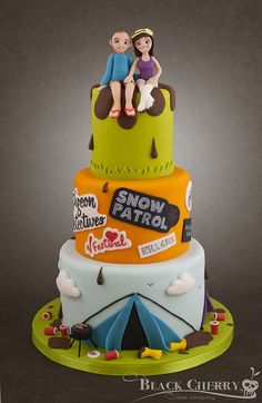 Music Festival Wedding Cake