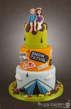 Music Festival Wedding Cake