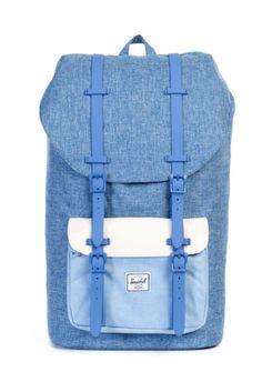 dcf0610c245f Herschel Little America Backpack in Limoges Chambray Crosshatch Herschel  Backpack Little America