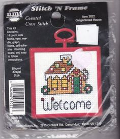 NMI Counted Cross Stitch Kit 3022 Gingerbread House Welcome